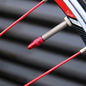 자전거 알루미늄 에어 밸브 캡 프레스타 전용 타이어