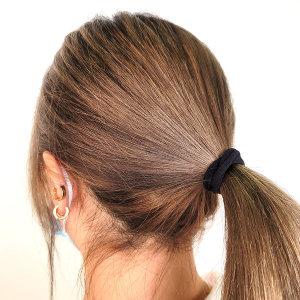 NHT-02 노팁 무매듭 쫀쫀한 탄력 신축성 머리끈