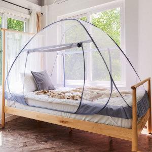 블루엘 모기장 원터치 텐트 침대 캐노피 대형 더블 - 상품 이미지