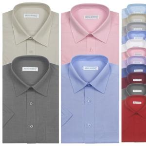 반팔 와이셔츠 무지 일반핏 드레스셔츠 빅사이즈 120