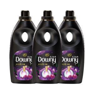 다우니 퍼퓸 초고농축 섬유유연제 미스티크 1L 3 개