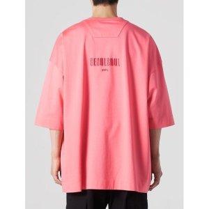 핑크 서울 소울 그래픽 오버 티셔츠(JC1442P34X)