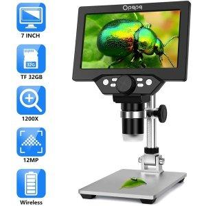 Opqpq 광학 디지털 현미경 usb 거치대 컴퓨터 수리용