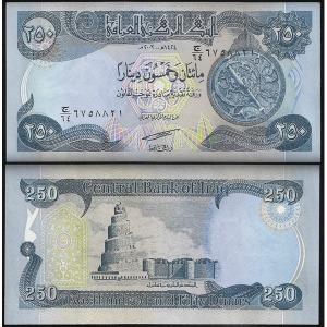 이라크 250 Dinars 2003년 UNC P.91a