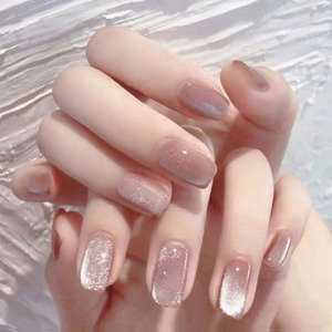 키밍 네일아트 셀프 네일 네일팁 글리터 핑크 A1Be-3