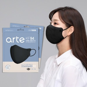 아르떼 새부리형 마스크 KF94 100매 블랙 개별포장