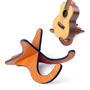우드형 우쿨렐레 스탠드 바이올린 겸용 받침대