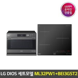 LG 디오스 광파오븐 ML32PW1 전기레인지 BEI3GST2