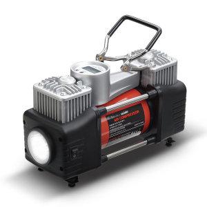 타이어 공기주입기 듀얼실린더 공기압 체크 컴프레셔