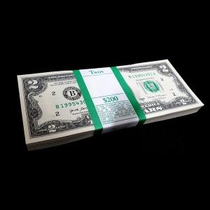미국 2017년 2달러지폐 (완전미사용) 다발