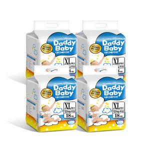 대디베이비 슬림 밴드기저귀 특대형 4팩 (1팩18매)공용