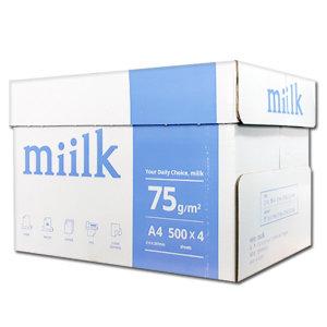 밀크 A4용지 75g 1박스(2000매) miilk