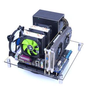 DIY PC 본체 오픈케이스 아크릴 데스크탑케이스- 중형