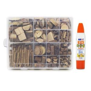 천연나무조각공예 14종+목공풀세트