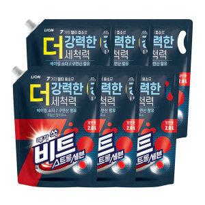 스트롱세븐 액체 세탁세제 2L 리필 일반용 6개