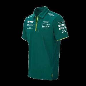 2021 F1 애스턴마틴 티 레이싱 팀 반팔 라운드 티셔츠