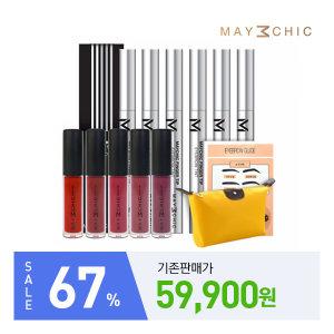 (클리어런스) 메이시크 아이브로우 틴트 본품 6개+립틴트 3종+가이드 4종+파우치 1개