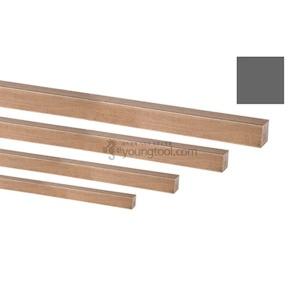 적동봉 정사각 규격 10.0x10.0mmx1M 2등분 구리봉