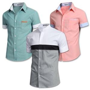 여름신상 반팔 셔츠 남방 스판 와이셔츠 남자 남성 옷