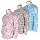 국산 여자 작업복 남방 봄가을 여름 여성 체크 셔츠
