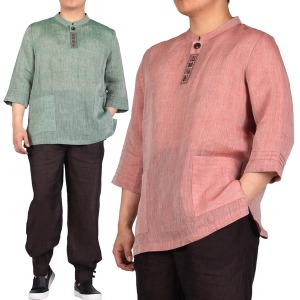 MM257 남성용 여름 마 칠부티+바지 생활한복 개량한복