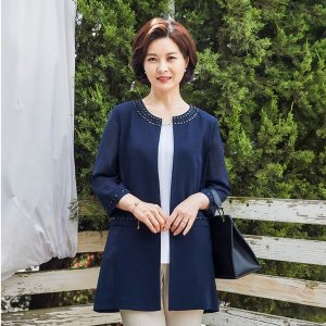 엄마옷 마담4060 보석라운딩자켓-QJK105032-