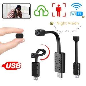 미니 1080P 와이파이 USB 카메라 나이트 비전 비디오