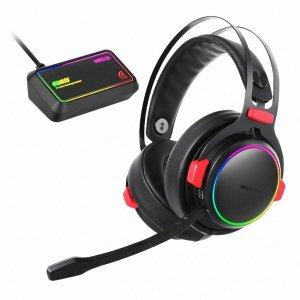 앱코 MR510 무선 가상 7.1 RGB 게이밍 헤드셋