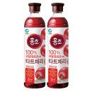 청정원 홍초 타트체리 900ml x2개