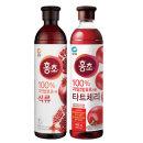 청정원 홍초 석류900ml x1개 + 타트체리900ml x1개