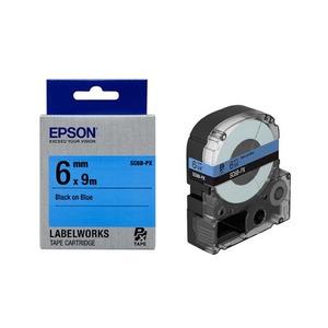 엡손 라벨테이프 SC6B-PX 6mmX9m 파랑 검정