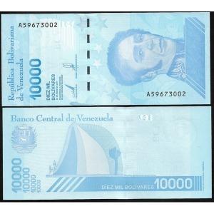 베네수엘라 10000 Bolivares 2019년 UNC