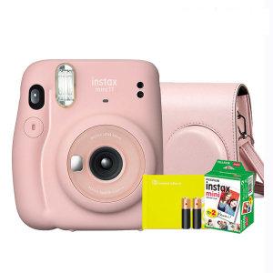 미니11/폴라로이드/즉석카메라 핑크/필름+가방외