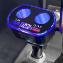 차량용 QC3.0 멀티 고속충전기 시거잭 4구 12-24V통용