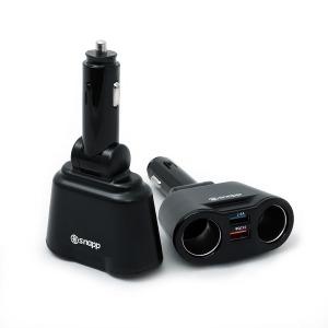 스냅 블리첸 2구 소켓 듀얼 USB 차량용충전기 QC3.0