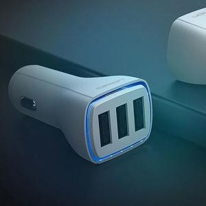 3포트 USB 차량용 고속 핸드폰 충전기 시거잭 DRION