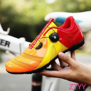 SPEED 통기성 메쉬 MTB 평페달 슈즈 자전거 신발