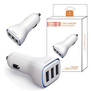 3.4A USB 3포트 차량용 충전기/동시충전/LED/12V~24V