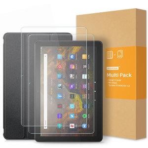아마존 파이어 HD10 2021 케이스+강화유리필름 2매