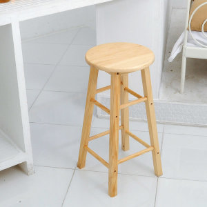 원목 홈바의자 중형 스툴 식탁의자 카페의자 간이의자