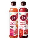 청정원 홍초 자몽900ml x1개+홍초 타트체리900ml x1개