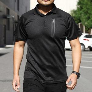 기능성 반팔 카라 티셔츠 퀵 드라이 전술티 MT105 _S