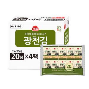 사조대림 광천김 도시락김 4g(80봉)