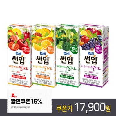 [썬업] 매일 과일야채샐러드 4종 혼합 200ml 48팩 /과채음료