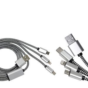 스넵 3in1 휴대폰충전 멀티 USB 케이블 8핀 C타입 5핀