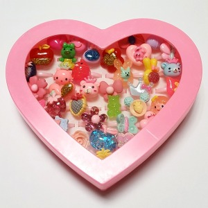 장난감 하트반지 36개 여아 캐릭터 6살여자아이선물