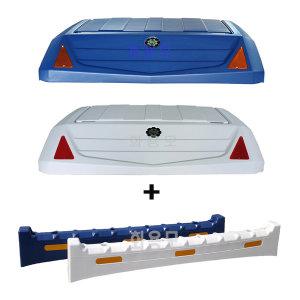1톤 슈퍼캡 PE리무진캐리어 백색/청색 + 바디블럭