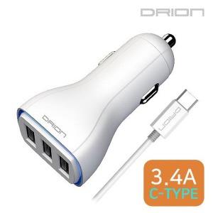 드리온 C타입 USB 3포트 차량용 충전기 3.4A