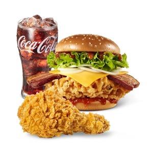(KFC) 핫통베이컨치킨세트 / 6월22일부터 사용가능
