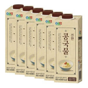 정식품 진한 콩국물 950ml 6팩